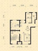 中东凯悦公馆2室2厅1卫83--88平方米户型图