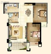 新榕金城华府2室2厅1卫80平方米户型图