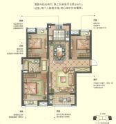 华润中心 高层3室2厅2卫137平方米户型图