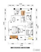 雅士林欣城3室2厅2卫125平方米户型图