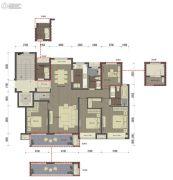 桂语里4室2厅2卫154平方米户型图