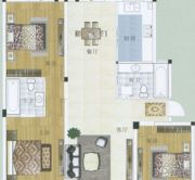 水岸帝景 高层3室3厅2卫130平方米户型图
