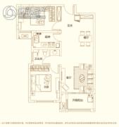 建业・新城半岛2室2厅1卫88平方米户型图