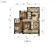 明康华庭阳光3室2厅2卫122平方米户型图