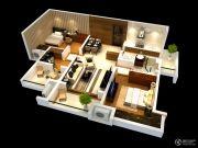 雅居乐林语城3室2厅1卫98平方米户型图