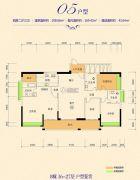 恒怡湾4室2厅3卫208平方米户型图