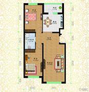 黎明荣府2室1厅1卫64平方米户型图