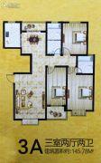 安泰颖水华庭3室2厅2卫145平方米户型图