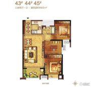 保利・香槟国际3室2厅1卫85平方米户型图