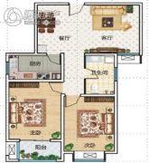 华瑞紫韵城2室2厅1卫90平方米户型图