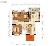 天悦华府3室2厅2卫96平方米户型图