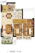 东润城2室2厅1卫85平方米户型图