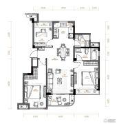 滨江旭辉・万家之星3室2厅2卫0平方米户型图