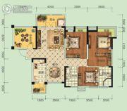 宏信・公园里3期3室2厅2卫140平方米户型图