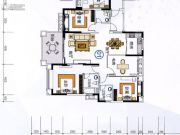 尚城雅苑4室2厅2卫135平方米户型图