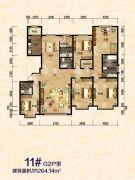 傲北上城6室2厅4卫264平方米户型图