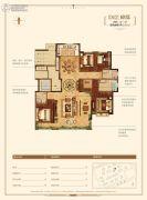 金地悦峰4室2厅3卫191平方米户型图