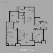东方今典・东方府3室2厅1卫127平方米户型图