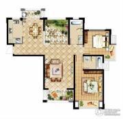 中建溪岸观邸2室2厅2卫125平方米户型图