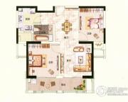 中环国际公寓三期2室1厅1卫83平方米户型图