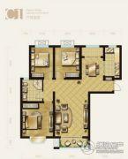 盛泽伯爵山3室2厅1卫117平方米户型图