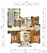 东泰・春江名园3室2厅2卫143平方米户型图