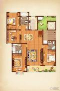 荣记玖珑湾4室2厅3卫190平方米户型图