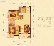 蓝海名都2室2厅1卫85--88平方米户型图