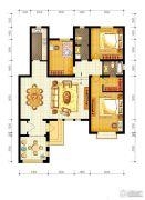 水静界3室2厅2卫142平方米户型图