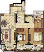金地湖城艺境4室2厅1卫95平方米户型图