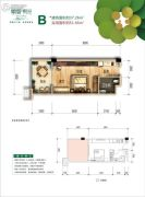 峨眉・时光1室1厅1卫37--51平方米户型图