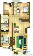 新天地美域3室2厅2卫0平方米户型图