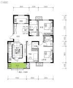 民生城・逸兰汐3室2厅2卫120平方米户型图