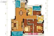 两江春城3室2厅2卫89平方米户型图
