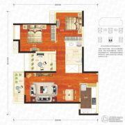 万科汉口传奇唐樾3室2厅1卫96平方米户型图