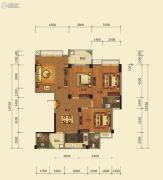 梅花金御3室2厅3卫126平方米户型图