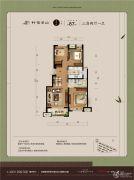 万科竹径云山二期3室2厅2卫87平方米户型图