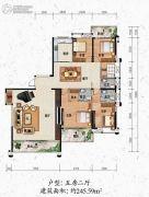 清华雅园5室2厅3卫245平方米户型图