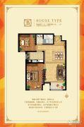 林语城2室2厅1卫88平方米户型图