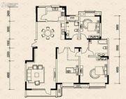 嘉华世家3室2厅2卫106平方米户型图