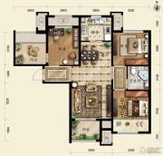 保利春天里3室2厅1卫95平方米户型图