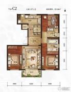 万年・园博墅3室2厅2卫138平方米户型图