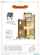 金地都会艺境2室2厅1卫73平方米户型图