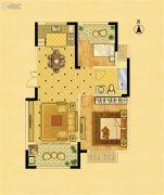 中南锦苑2室2厅1卫81平方米户型图