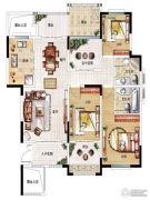 民安北郡3室2厅2卫119平方米户型图