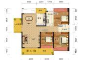 海雅缤纷城3室2厅2卫128平方米户型图