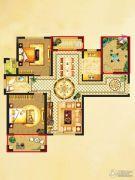 国润溪香米兰2室2厅1卫105平方米户型图