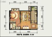 国盛园墅1室1厅1卫39平方米户型图