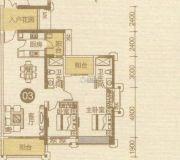 优越香格里2室2厅2卫122平方米户型图
