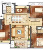 正荣悦玲珑2室2厅2卫115平方米户型图
